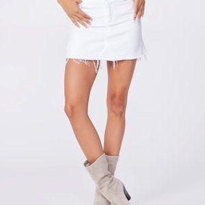Paige   White Aideen Denim Crisp White Skirt